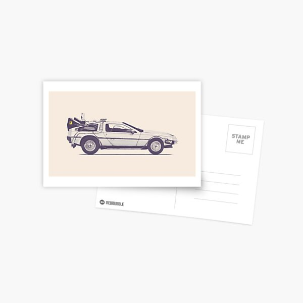 Delorean Postcard