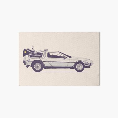 Delorean Art Board Print