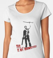 Ash - Evil Dead/Army of Darkness - Boomstick (Updated) Women's Premium T-Shirt