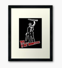 Ash - Evil Dead/Army of Darkness - Boomstick (Updated) Framed Print