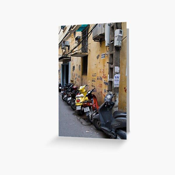 Motorbikes (Ha Noi, Viet Nam) Greeting Card