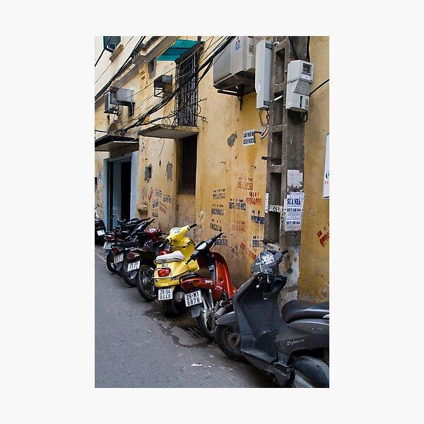 Motorbikes (Ha Noi, Viet Nam) Photographic Print