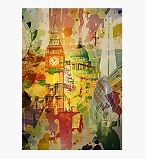 London Splatter Photographic Print