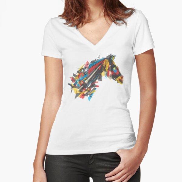 beygir (horse) Fitted V-Neck T-Shirt