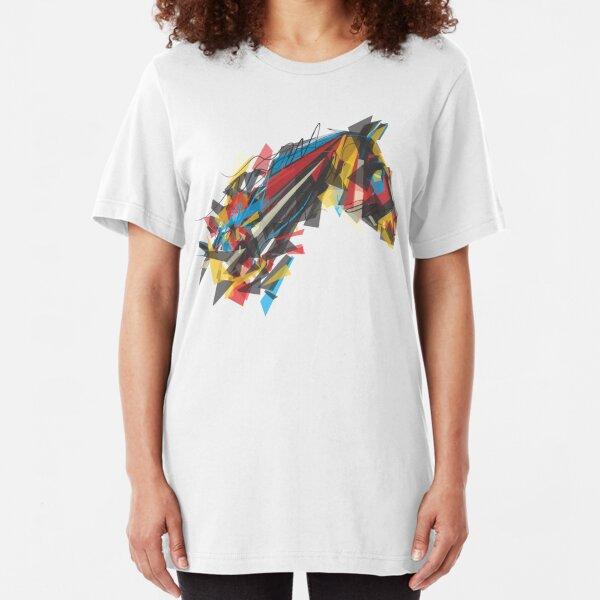 beygir (horse) Slim Fit T-Shirt
