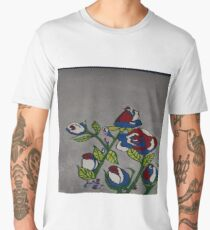 Red White and Blue Roses Men's Premium T-Shirt