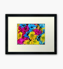 Vivid Colorful Flowers - Nature Print Framed Print