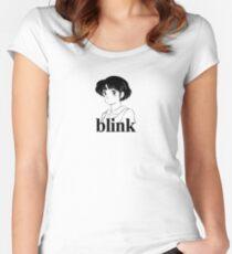 Vintage BLINK 182 (Pre-182) Anime / Manga Design  Women's Fitted Scoop T-Shirt