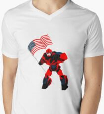 Robot with American Flag Boys  for 4th of July T-Shirt