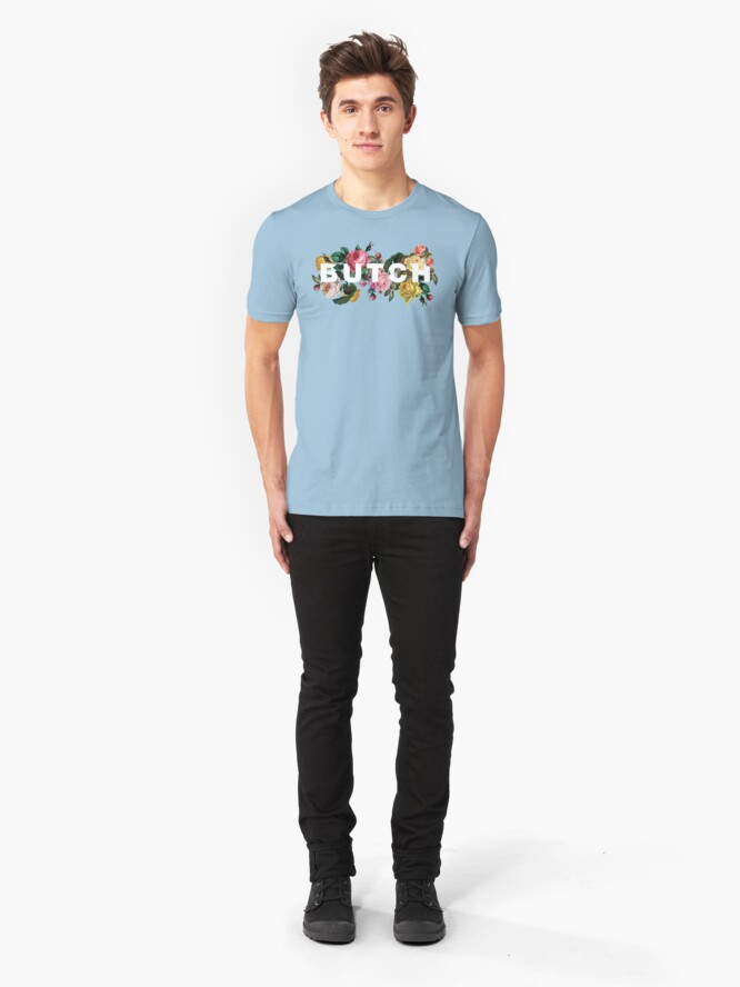 Alternate view of Butch (Antique Roses) Slim Fit T-Shirt