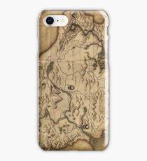 Map of Skyrim (The Elder Scrolls) iPhone Case/Skin