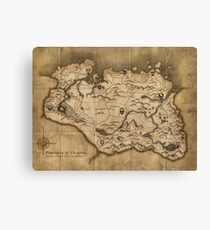 Map of Skyrim (The Elder Scrolls) Canvas Print