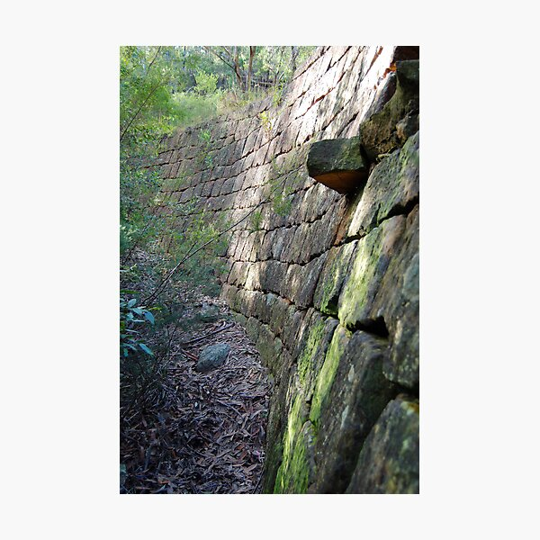 Curved Convict Built Wall - Great North Road Photographic Print