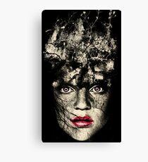 Monochrome Woman Nature Digital art Canvas Print