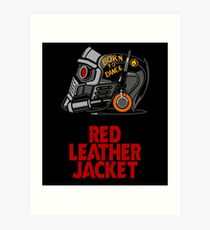 Red Leather Jacket Art Print