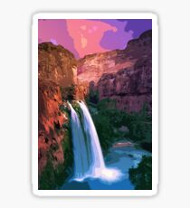 Havasu falls at sunset Sticker