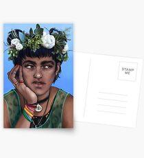 flower crown blue Postcards