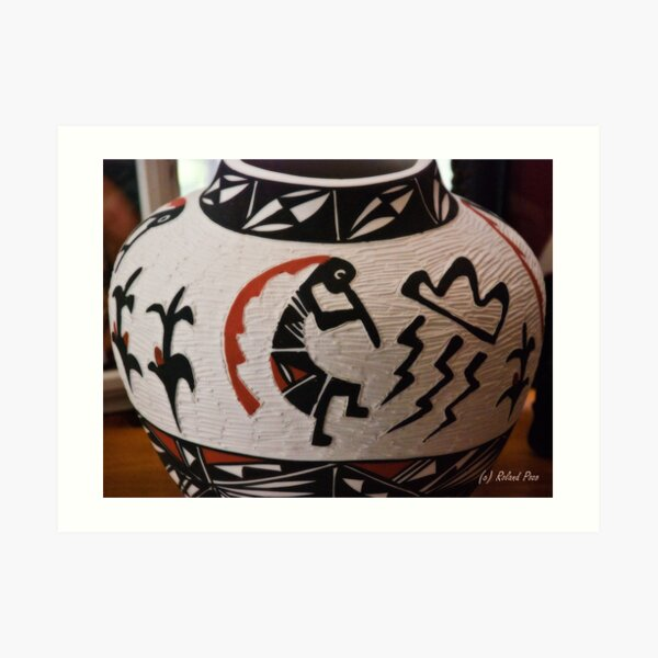 Kokopelli Clay Pottery Art Print