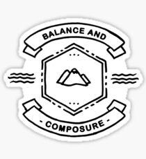 Balance and Composure Sticker