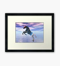Unicorn of the stars Framed Print