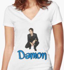 Damon Women's Fitted V-Neck T-Shirt