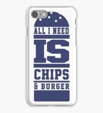 Chips & Burger iPhone Case/Skin
