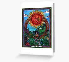 The Sun Card, Tarot Greeting Card