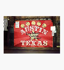 Austin Live Music Photographic Print