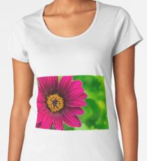 Vivid Red Flower And Spring Pollen Women's Premium T-Shirt