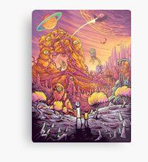 Rick and Mortys' World Metal Print