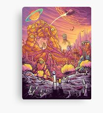 Rick and Mortys' World Canvas Print