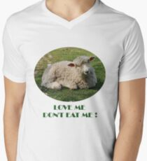 Love Me  Dont Eat Me Men's V-Neck T-Shirt