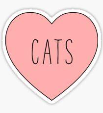 I Love Cats Heart   Cat Sticker
