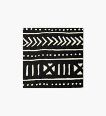 african mud cloth black and white Art Board
