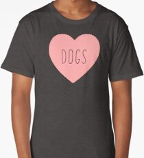 I Love Dogs Heart | Dog  Long T-Shirt