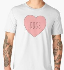 I Love Dogs Heart | Dog  Men's Premium T-Shirt