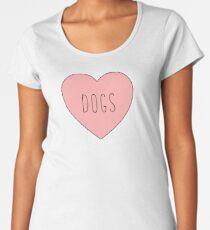 I Love Dogs Heart | Dog  Women's Premium T-Shirt
