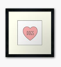 I Love Dogs Heart | Dog  Framed Print