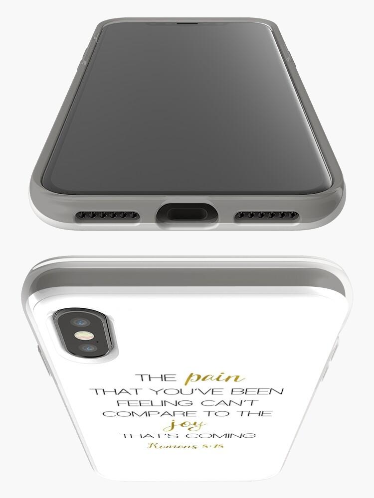 Alternative Ansicht von SCHMERZ JOY RÖMER 8:18 iPhone-Hülle & Cover