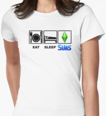 EAT SLEEP SIMS Women's Fitted T-Shirt