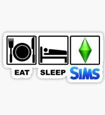 EAT SLEEP SIMS Sticker