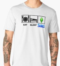 EAT SLEEP SIMS Men's Premium T-Shirt