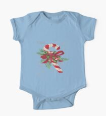 Vintage Merry Christmas Candy Cane Kids Clothes