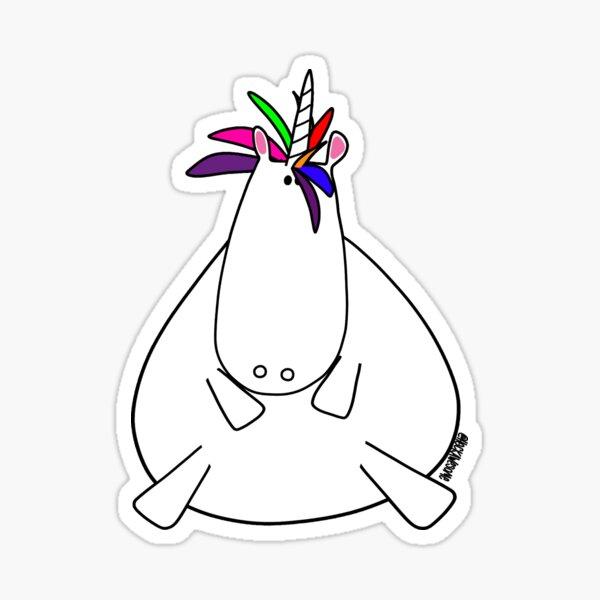 Ted The Unicorn Sticker