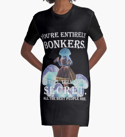 Alicia en el país de las maravillas: estás totalmente loca Vestido camiseta