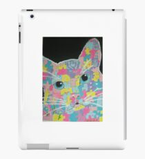 Abstract  pop art colorful cat acrylic painting  iPad Case/Skin