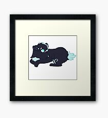 Blue and Black Dog Furry Fursona Framed Print