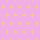 Electric Emoji Minimal (Pink) Pattern by jezkemp