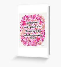 Always Remember – Pink Ombré Palette Greeting Card