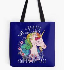 She's beauty she's grace Tote Bag